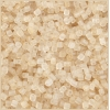 Square Beads 2X2mm Round Hole Light Gold Luster Matte